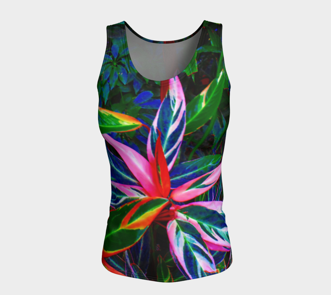 Tropical Fitted Tank Top preview #5