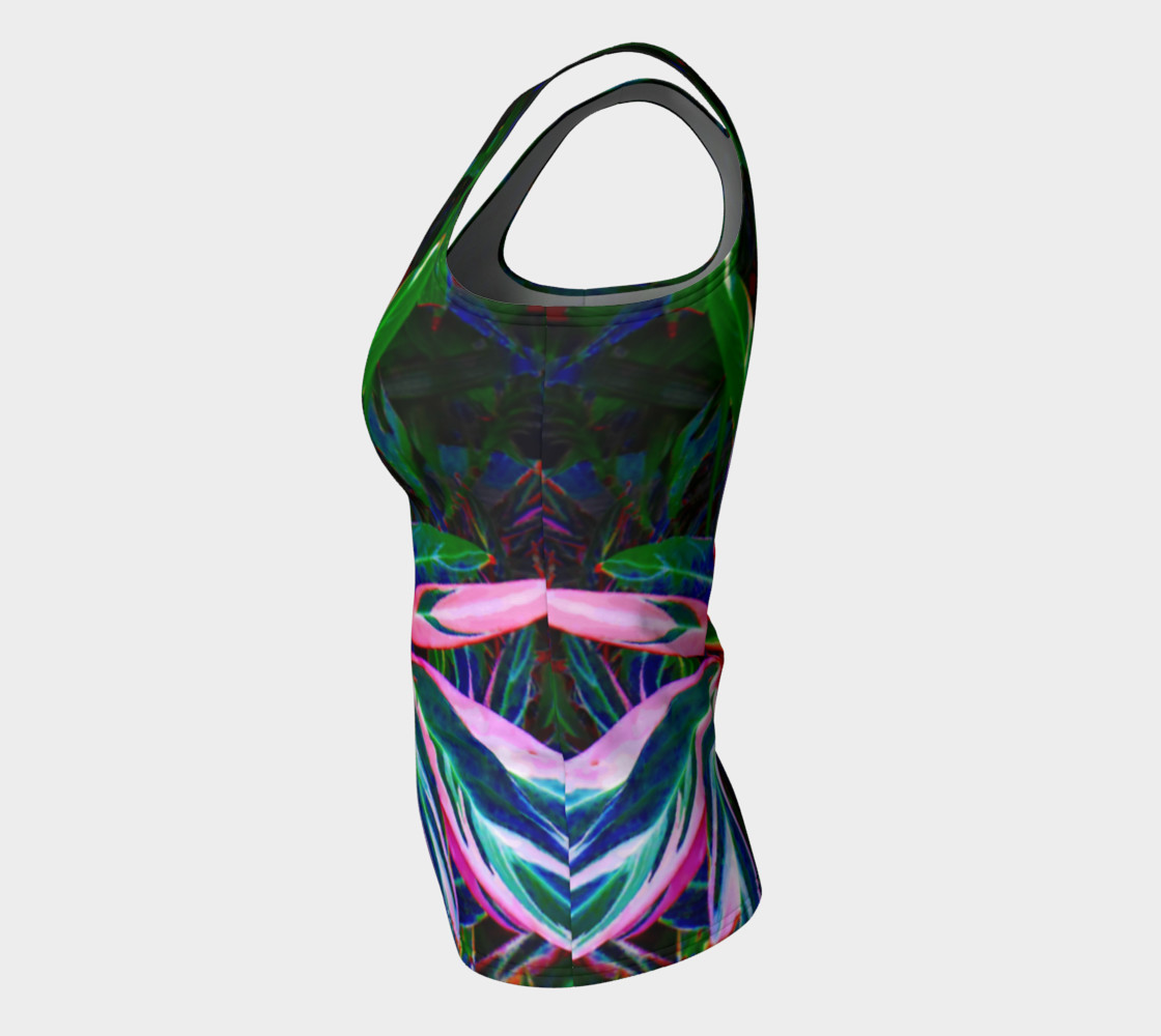 Tropical Fitted Tank Top preview #7