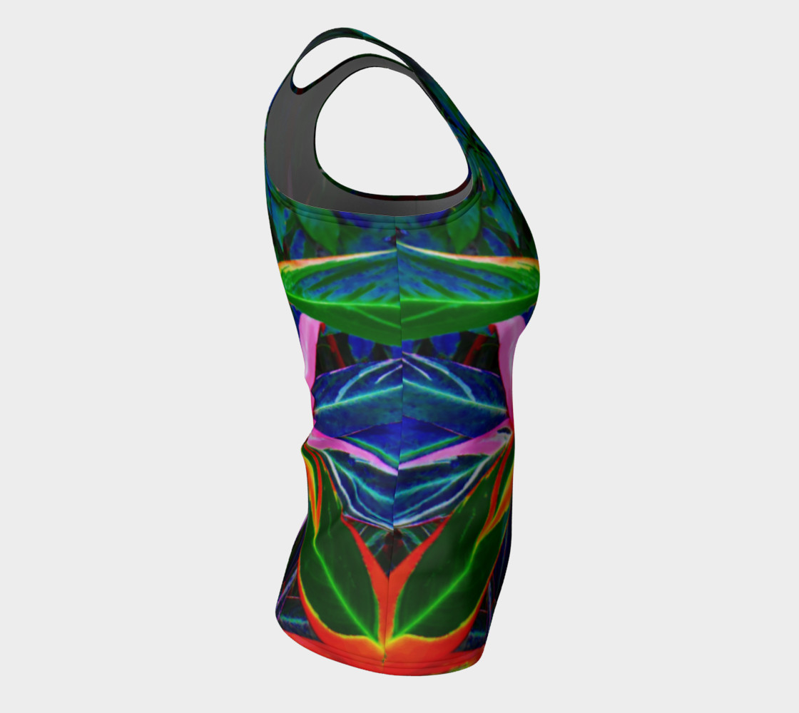 Tropical Fitted Tank Top preview #8