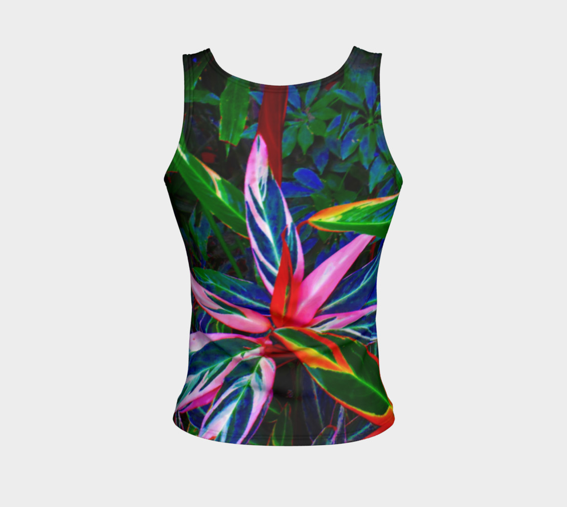 Tropical Fitted Tank Top preview #2