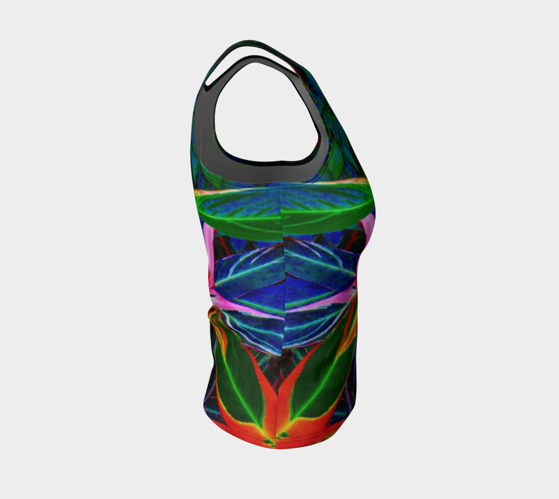 Tropical Fitted Tank Top preview #4