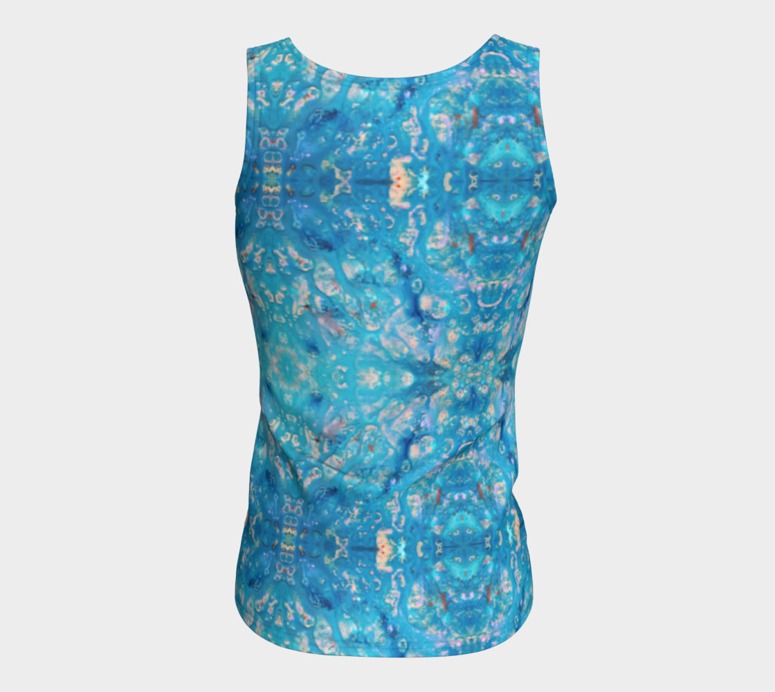 Waterfall Mosaic Fitted Tank Top preview #6