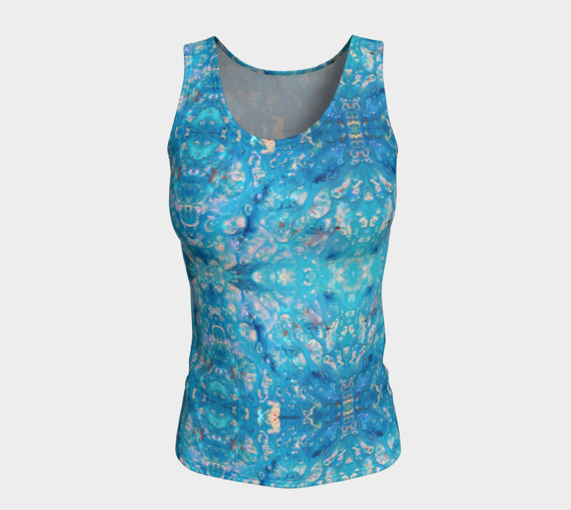 Waterfall Mosaic Fitted Tank Top preview #5