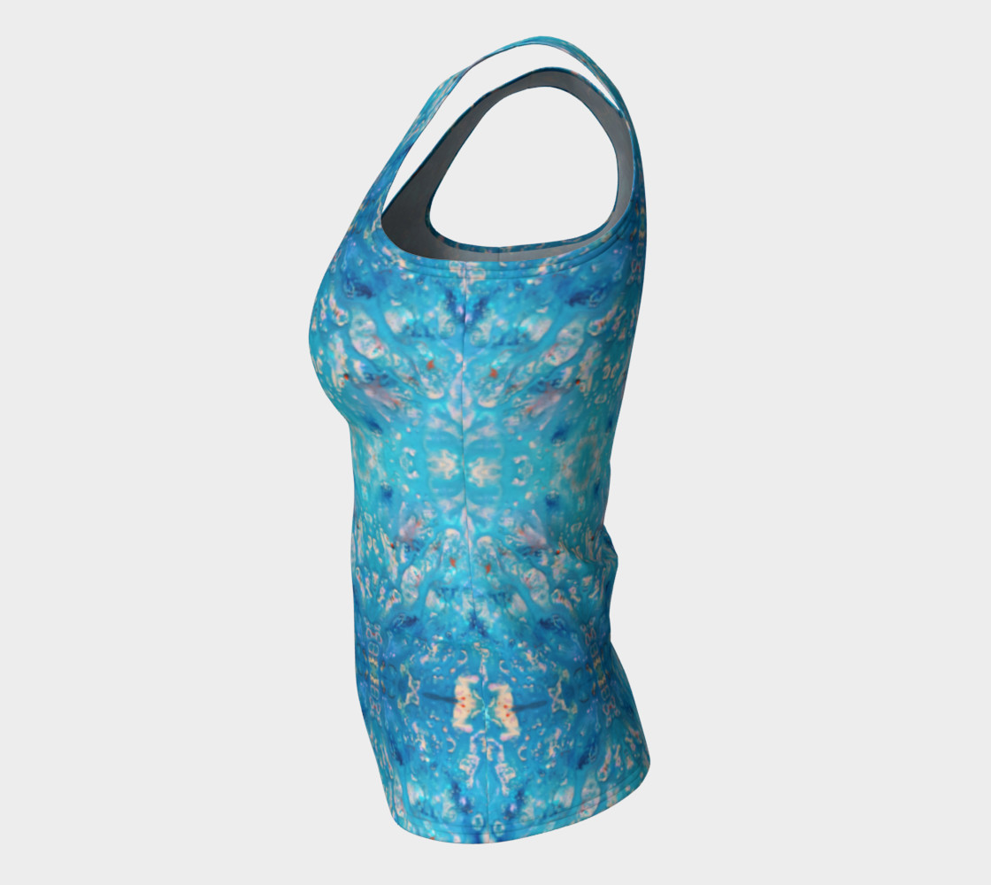 Waterfall Mosaic Fitted Tank Top preview #7