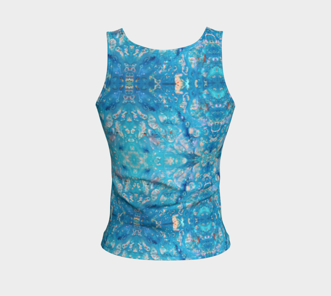 Waterfall Mosaic Fitted Tank Top preview #2