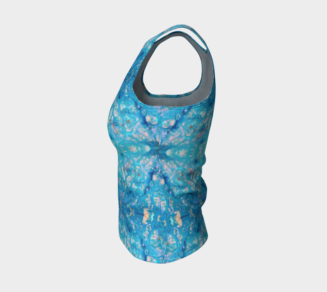 Waterfall Mosaic Fitted Tank Top preview #3