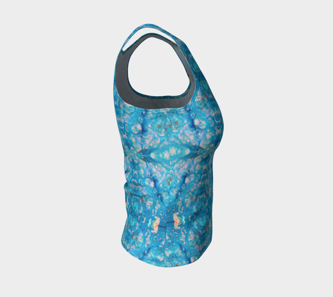 Waterfall Mosaic Fitted Tank Top preview #4