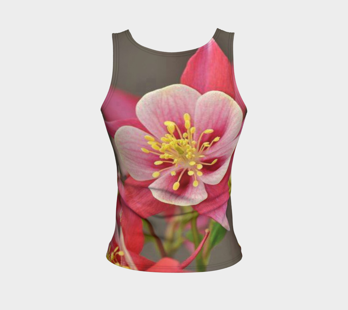 Such a lovely flowers, on fitted tank top preview #2