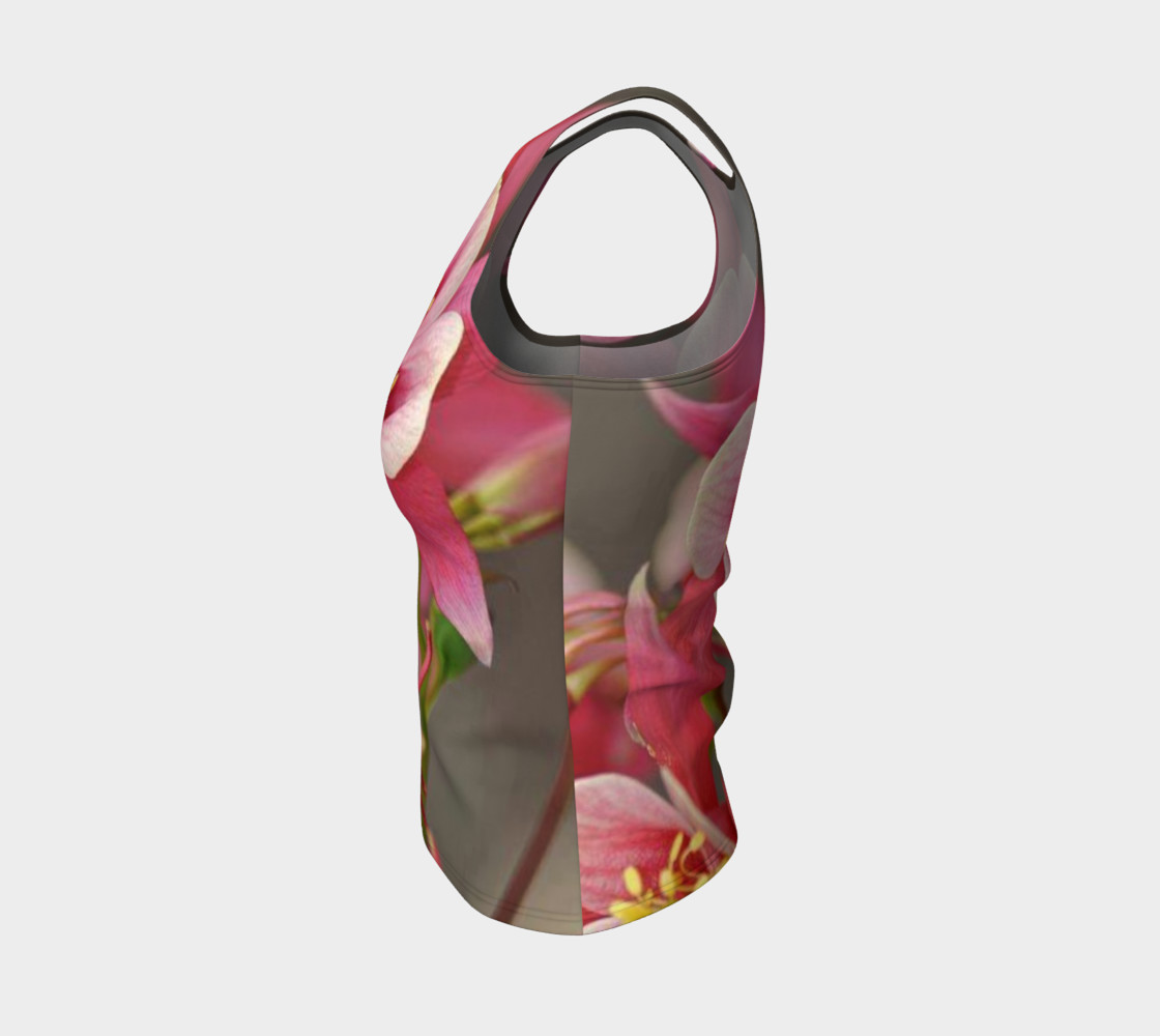 Such a lovely flowers, on fitted tank top preview #3