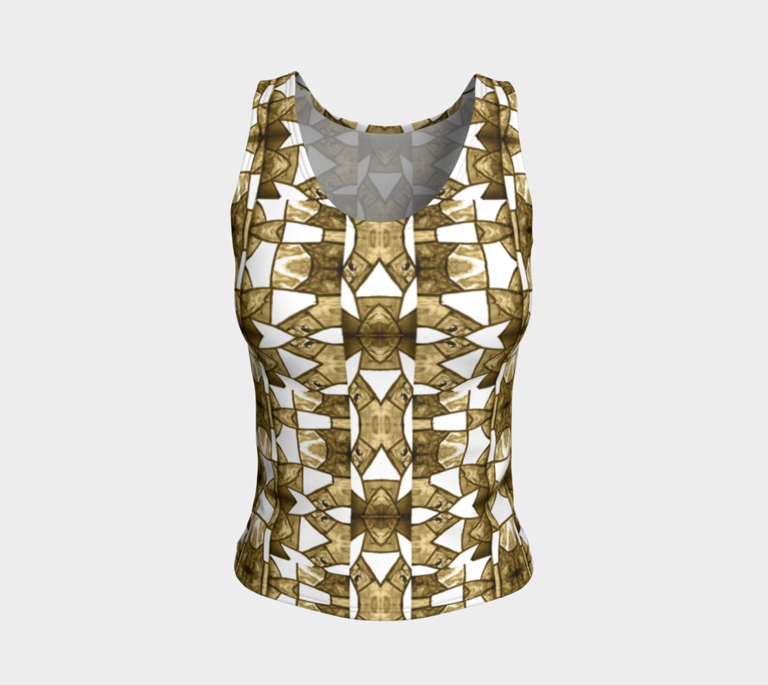Aperçu de Coffee Mosaic Fitted Tank Top #1