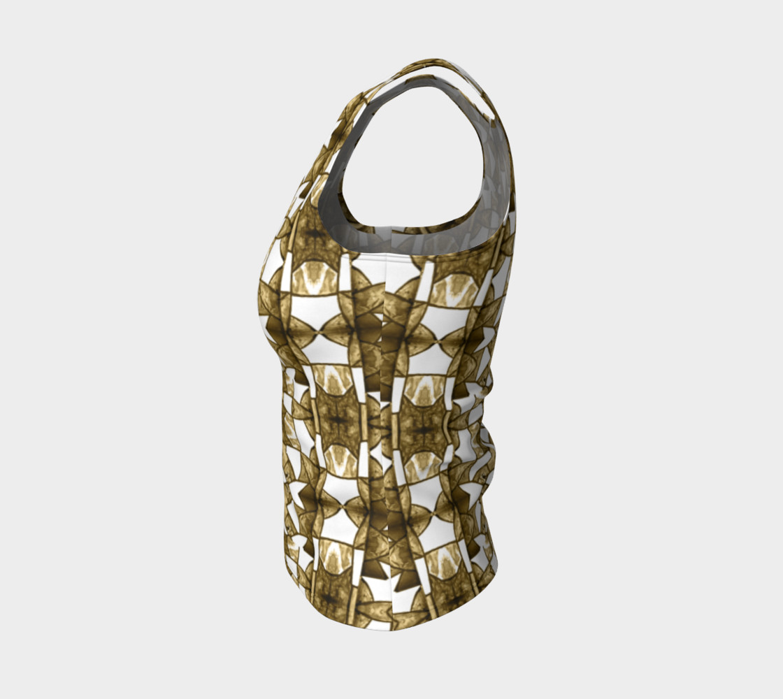 Aperçu de Coffee Mosaic Fitted Tank Top #3