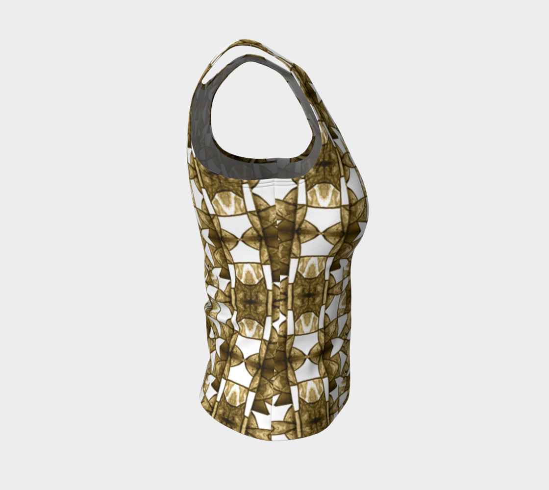 Aperçu de Coffee Mosaic Fitted Tank Top #4