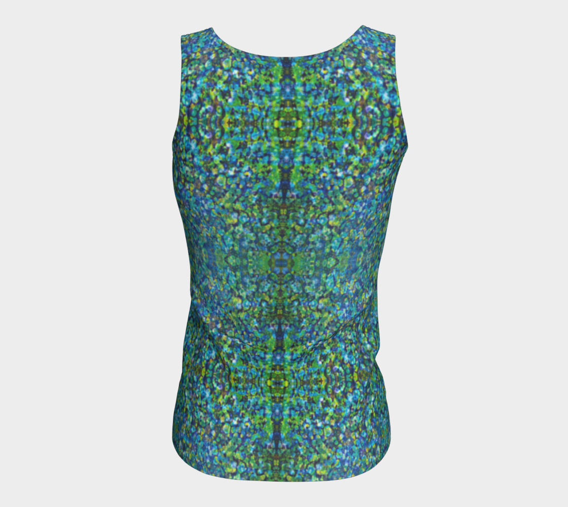 Turquoise Stone Mosaic Fitted Tank Top preview #6