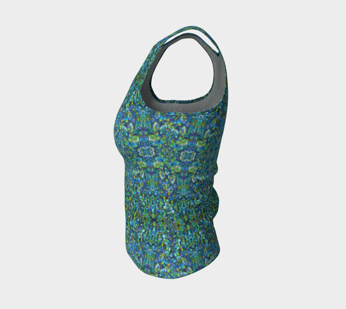 Turquoise Stone Mosaic Fitted Tank Top preview #3
