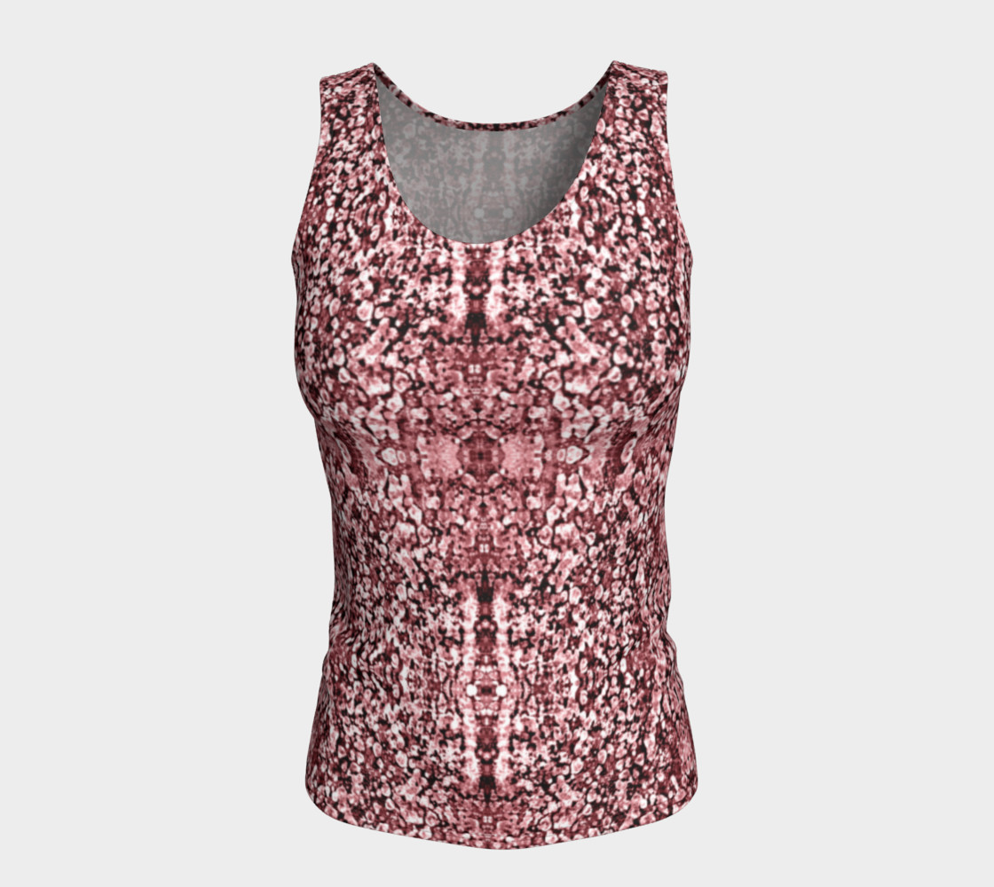 Rose Stone Mosaic Fitted Tank Top preview #5