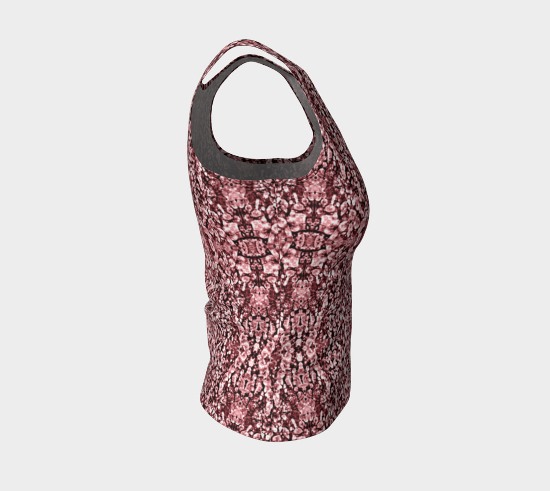 Rose Stone Mosaic Fitted Tank Top preview #4