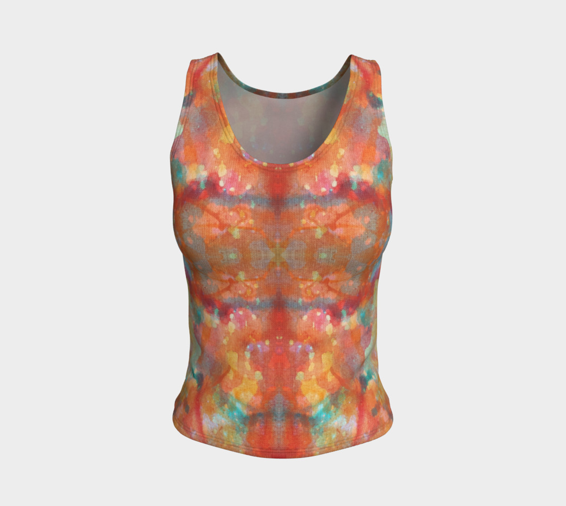 Desert Sunset Fitted Tank Top preview #1
