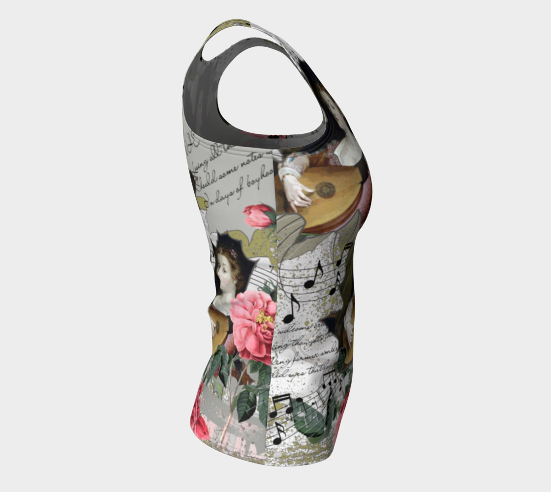 Music Fitted Tank Top preview #8