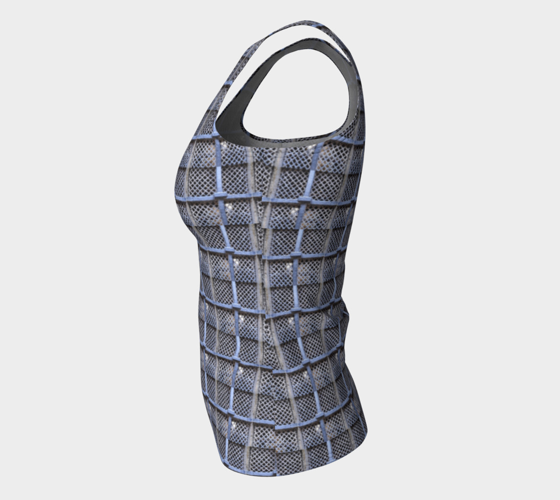 Medieval Grate Fitted Tank Top preview #7