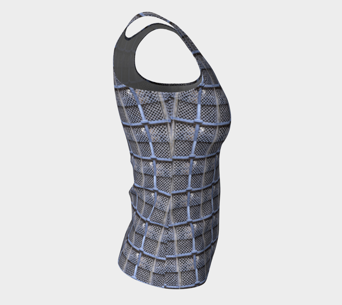 Medieval Grate Fitted Tank Top preview #8