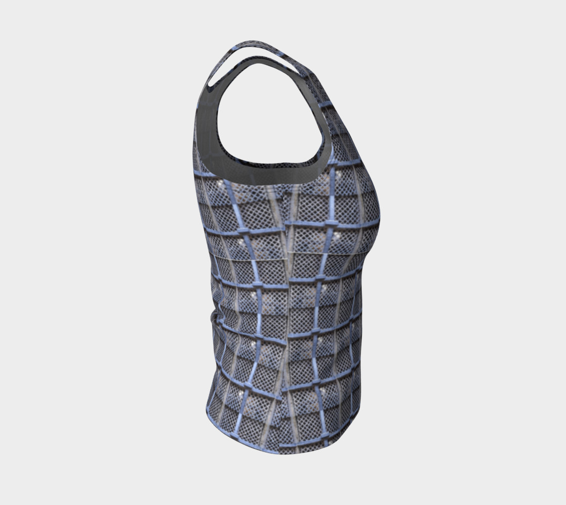 Medieval Grate Fitted Tank Top preview #4
