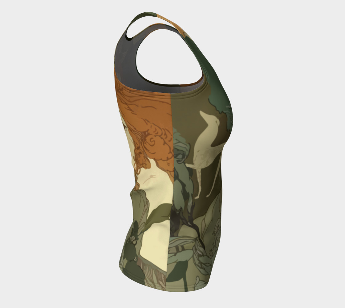 Art Nouveau lady Fitted Tank Top preview #8