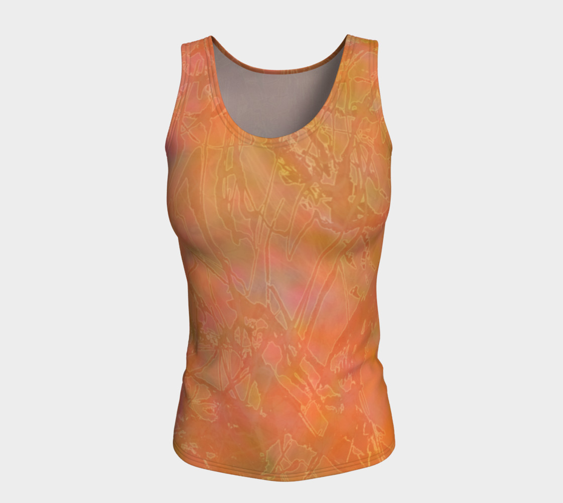 Orange Sherbet Fitted Tank preview #5