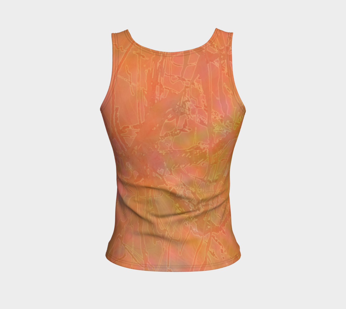 Orange Sherbet Fitted Tank preview #2