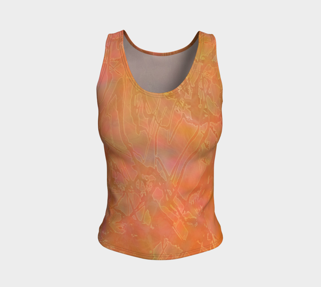 Orange Sherbet Fitted Tank preview #1