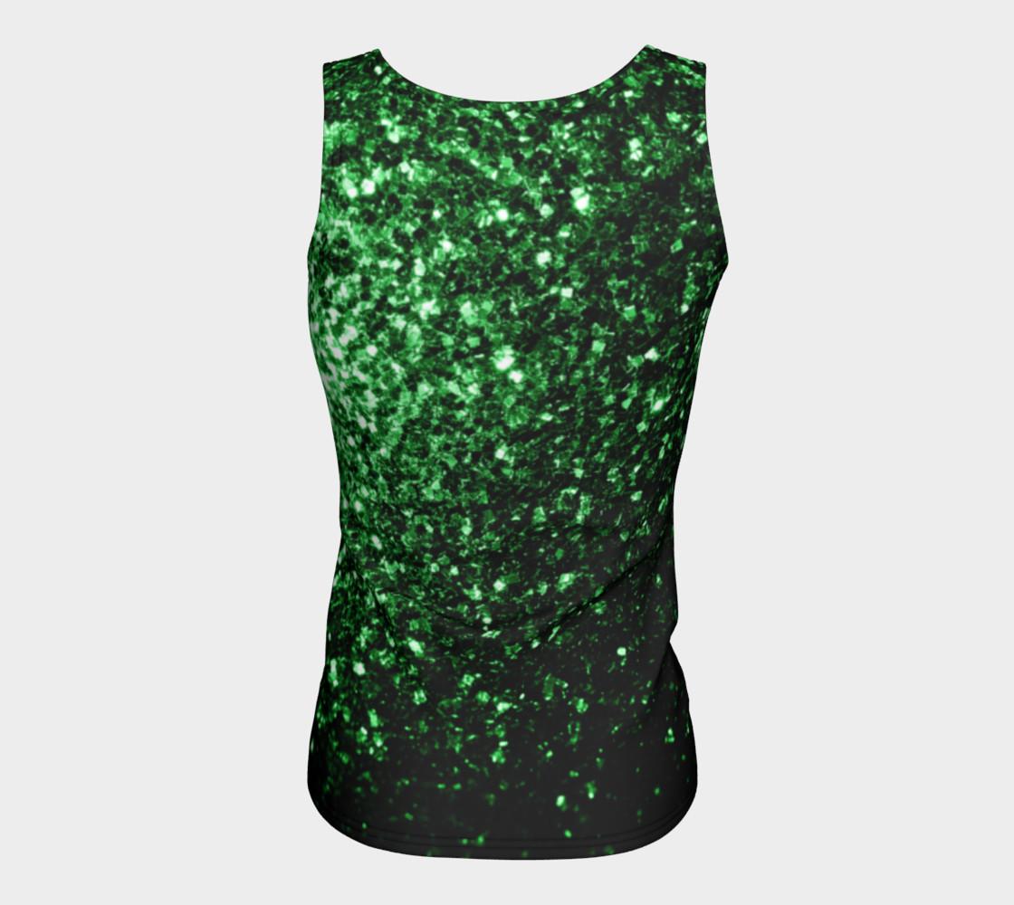 Aperçu de Beautiful Glamour Dark Green glitter sparkles #6