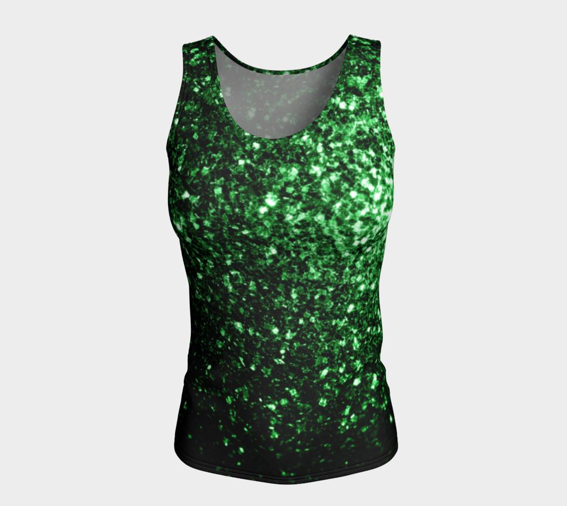 Aperçu de Beautiful Glamour Dark Green glitter sparkles #5
