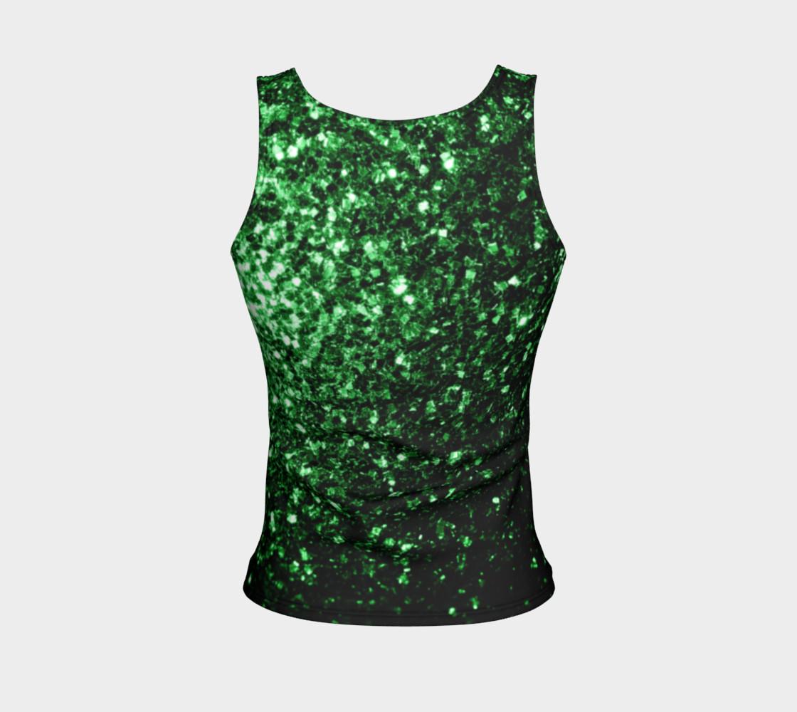 Aperçu de Beautiful Glamour Dark Green glitter sparkles #2