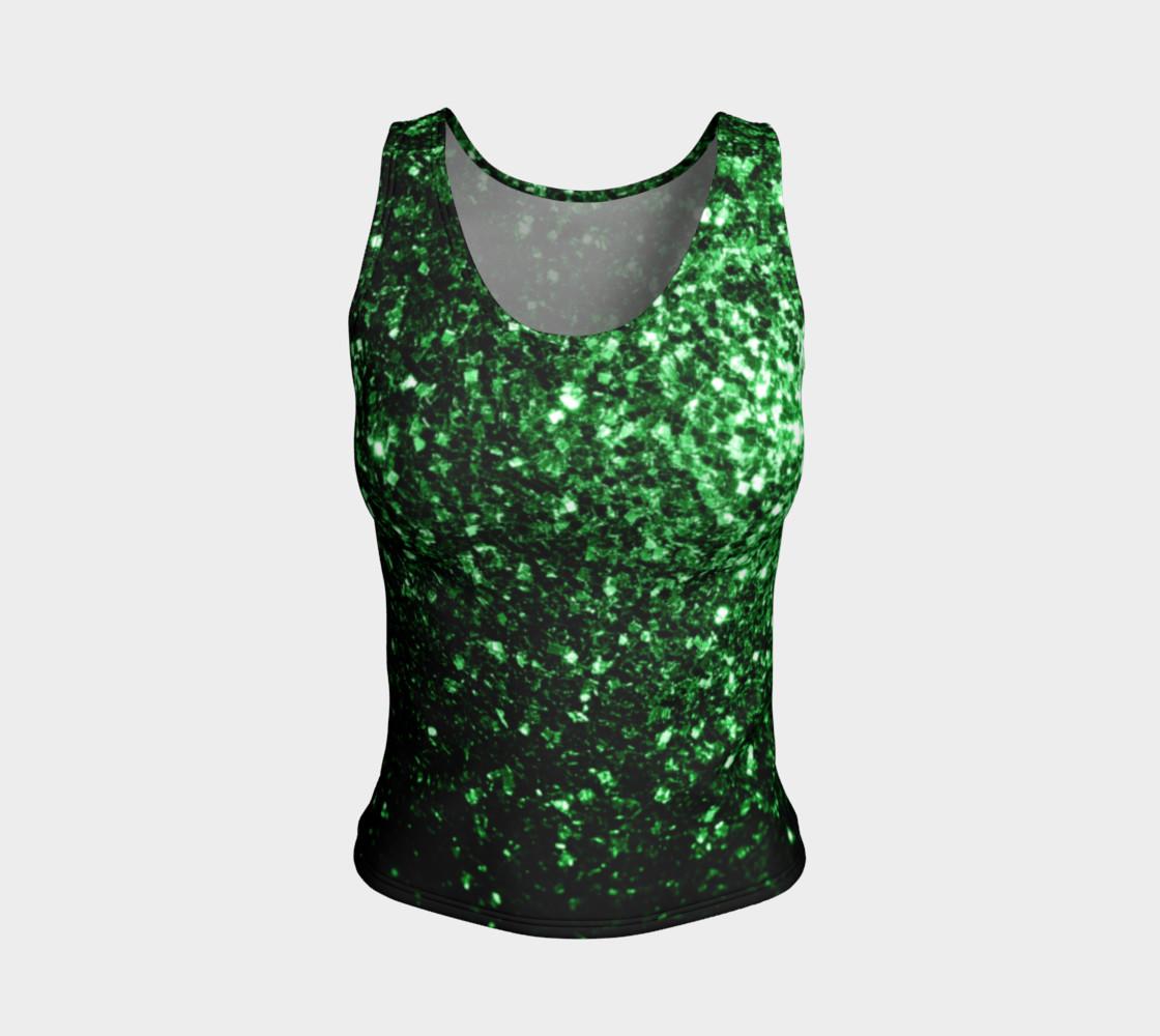 Aperçu de Beautiful Glamour Dark Green glitter sparkles #1