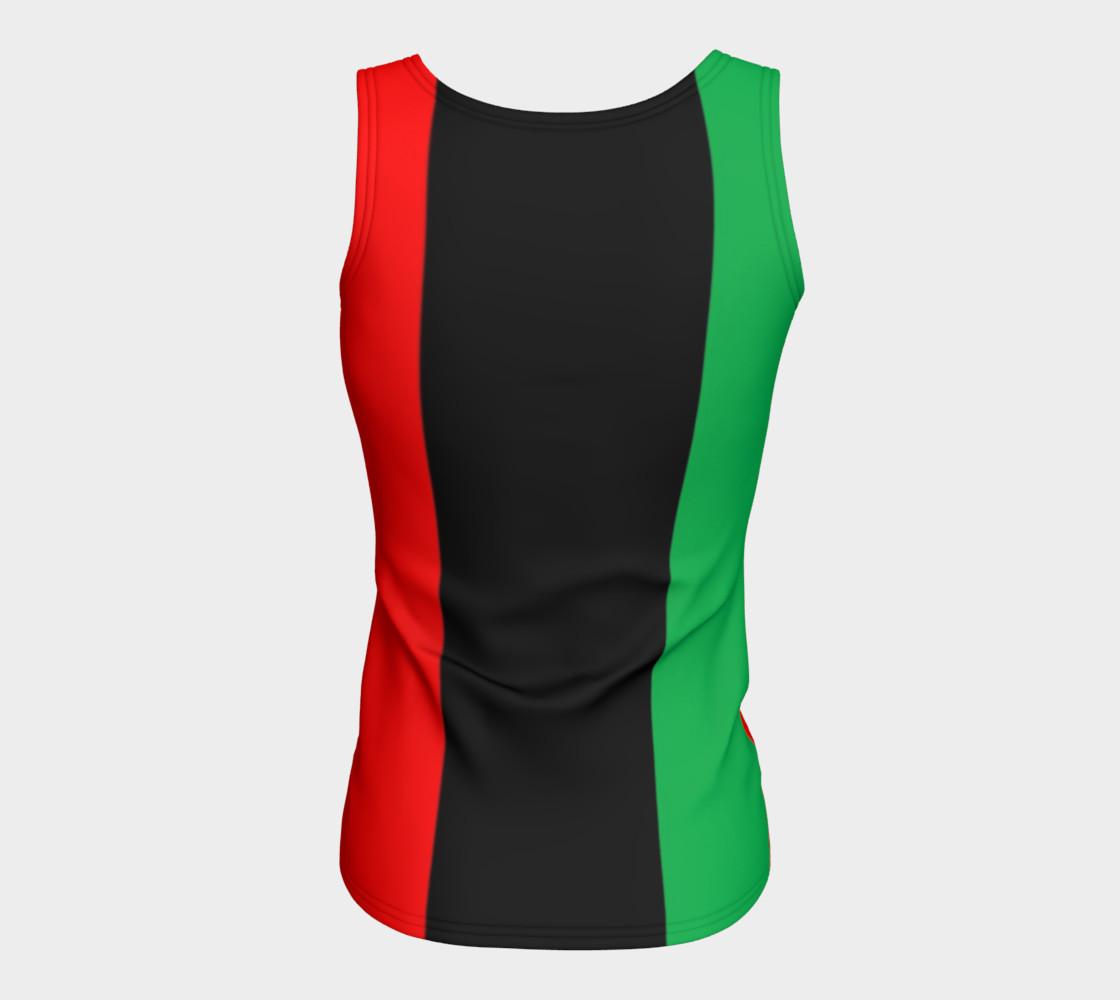 Aperçu de Kwanzaa Striped Pattern Red Black Green #6