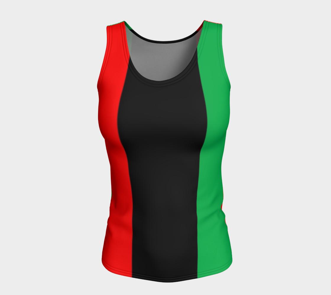 Aperçu de Kwanzaa Striped Pattern Red Black Green #5