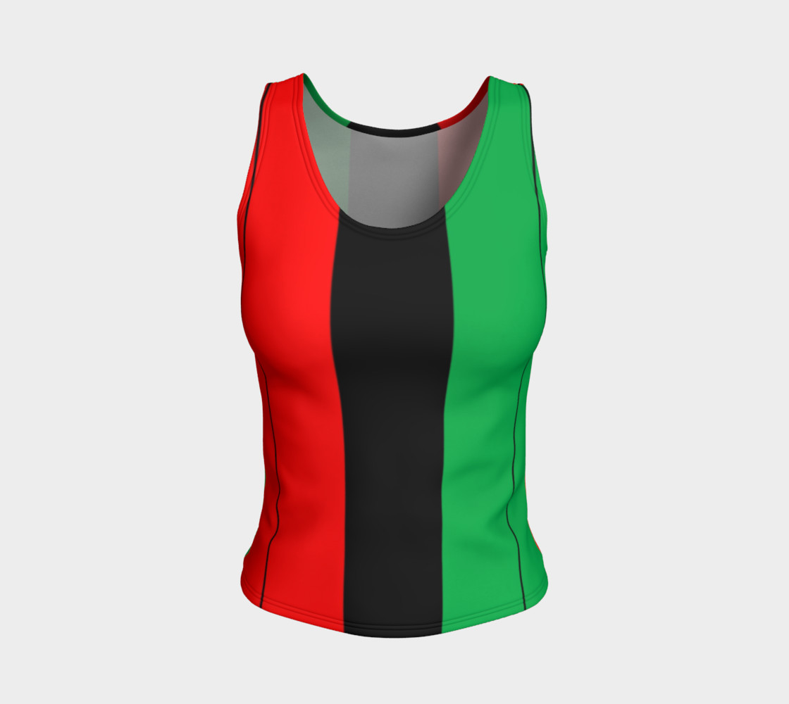 Aperçu de Kwanzaa Striped Pattern Red Black Green #1