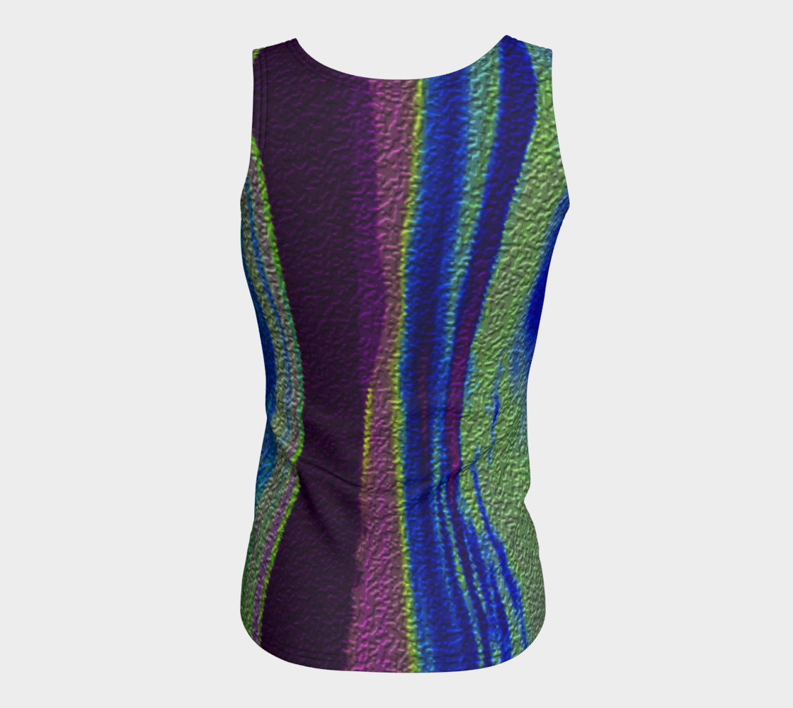 Color Dance Fitted tank top preview #6