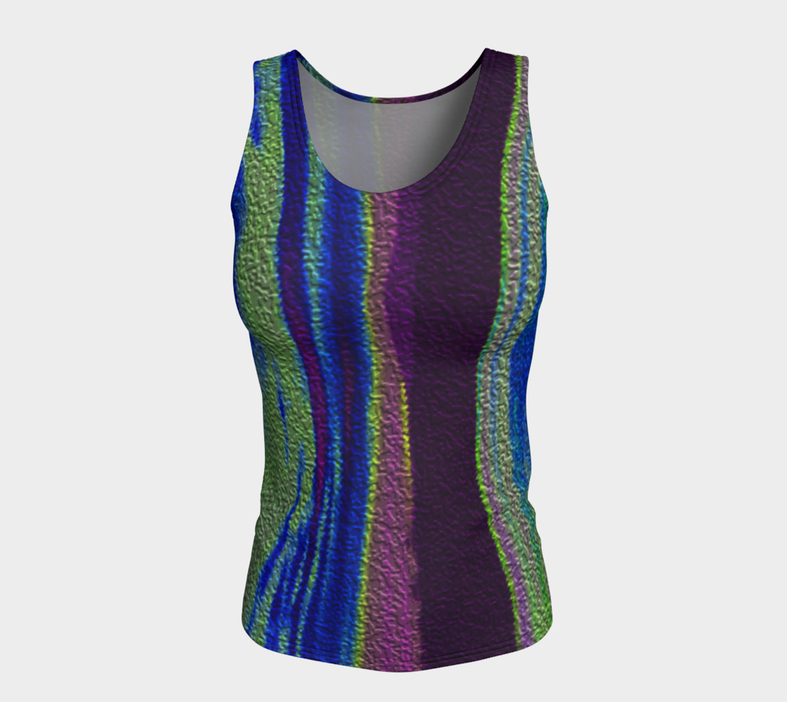 Color Dance Fitted tank top preview #5