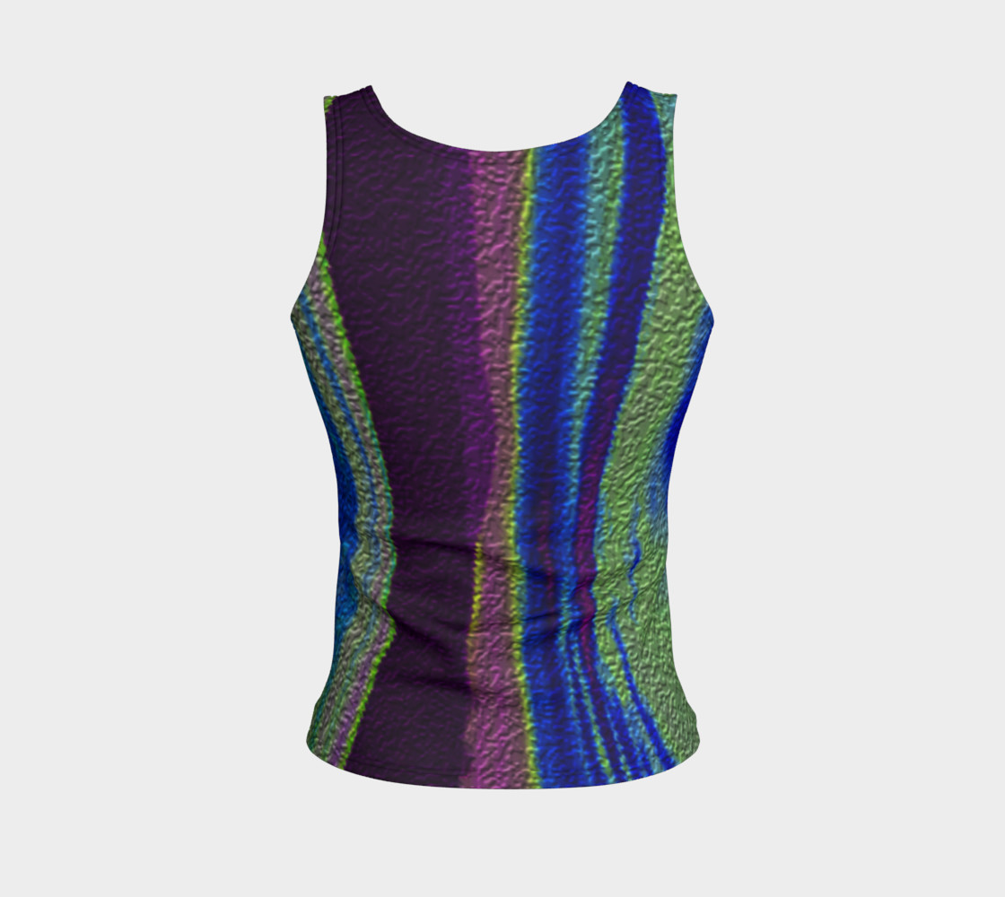 Color Dance Fitted tank top preview #2