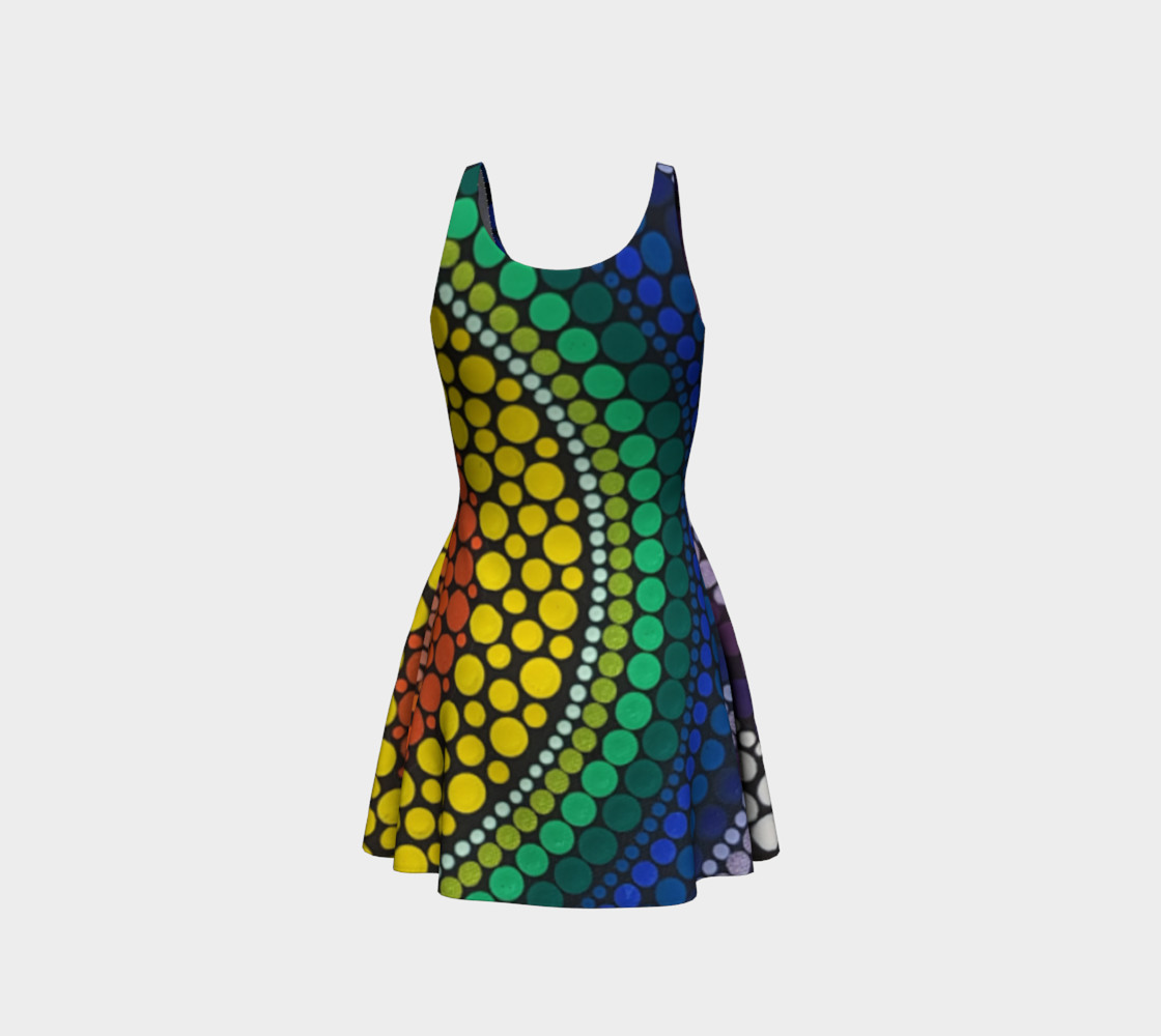 Rainbow Flare Dress preview #3
