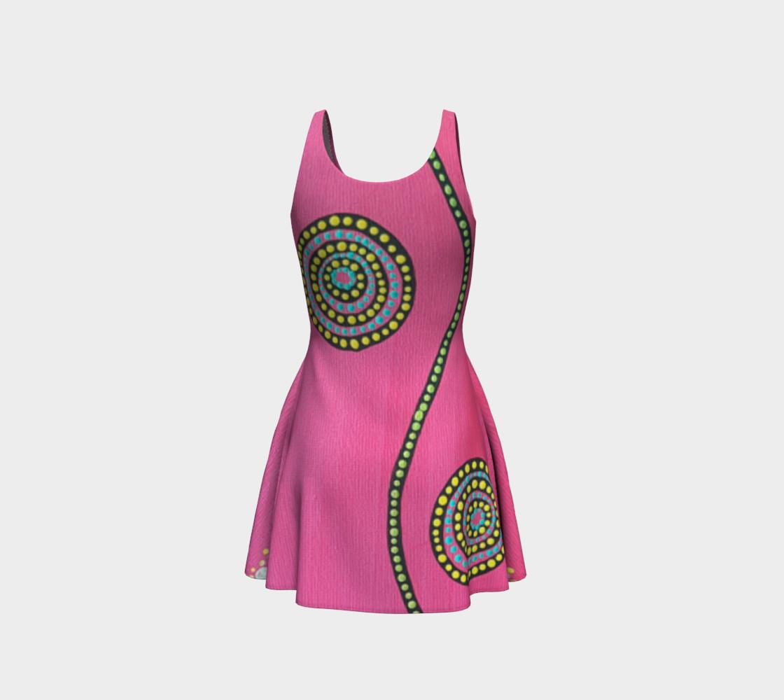 BlinkitArt Magenta Flare Dress preview #3
