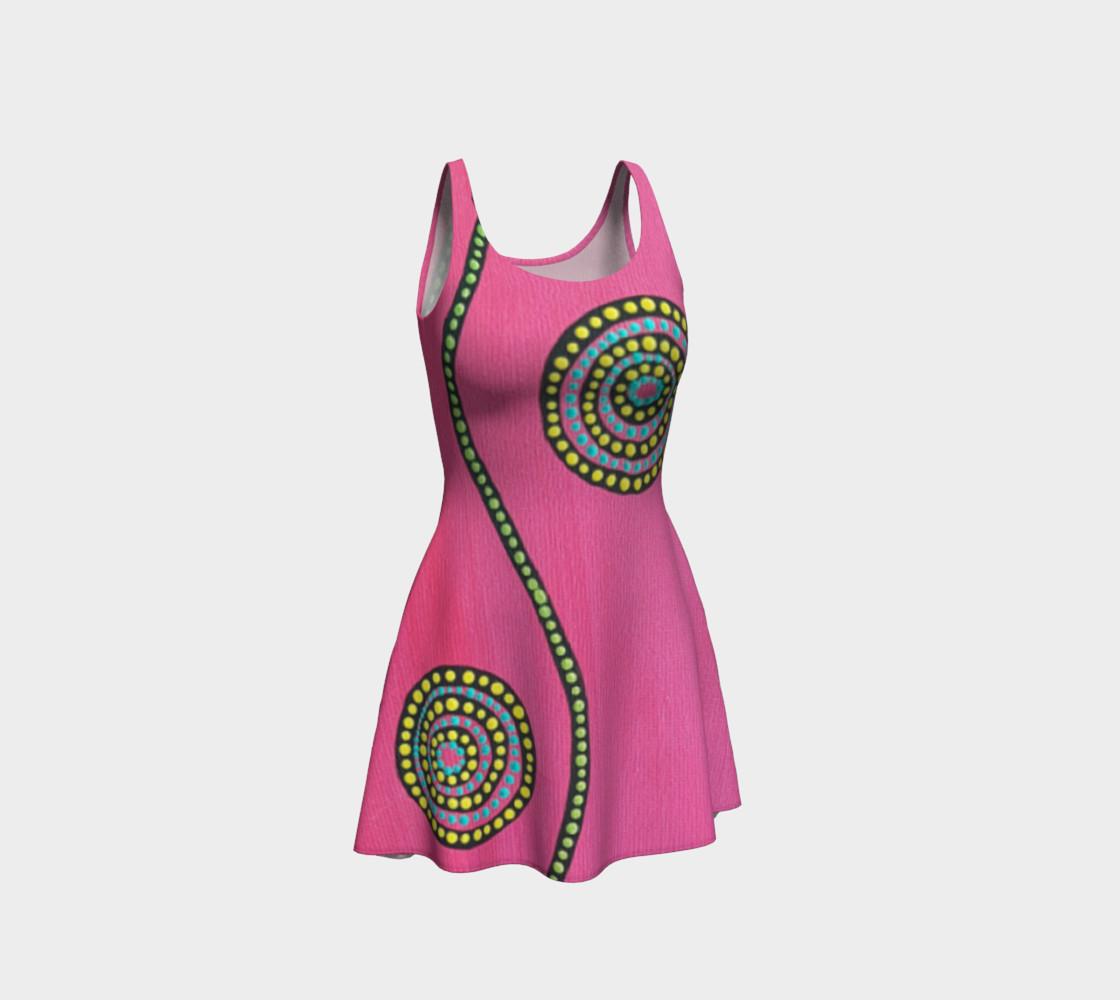 BlinkitArt Magenta Flare Dress preview #1