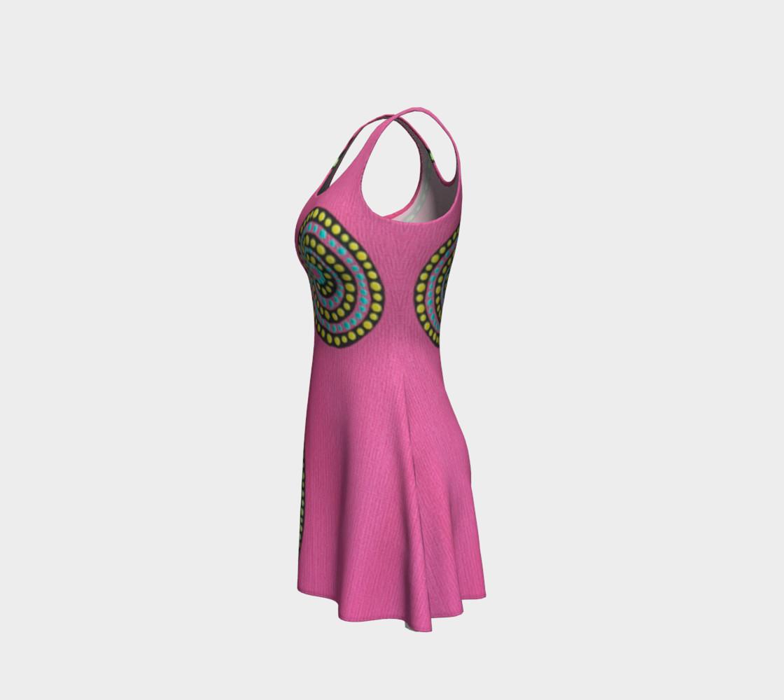 BlinkitArt Magenta Flare Dress preview #2
