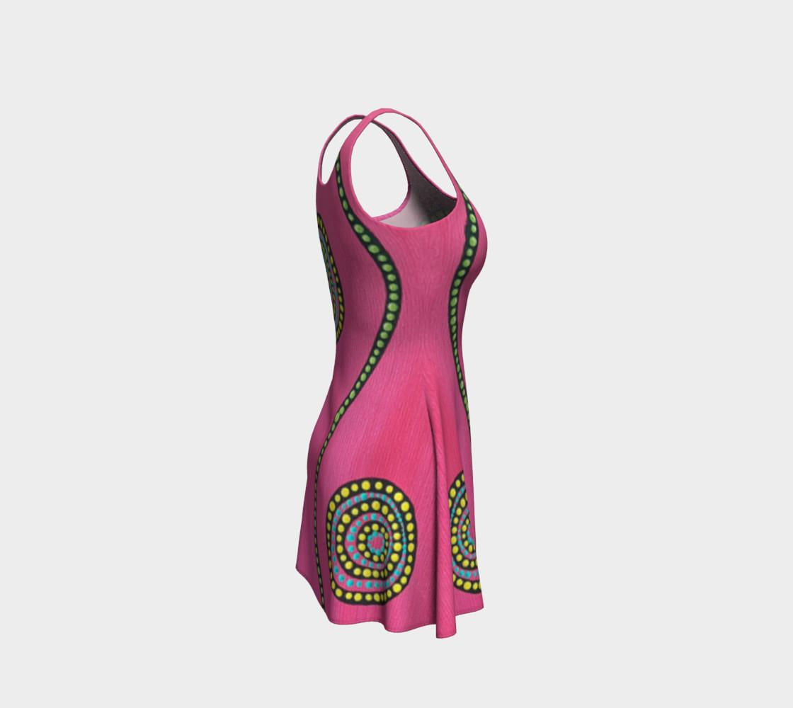 BlinkitArt Magenta Flare Dress preview #4
