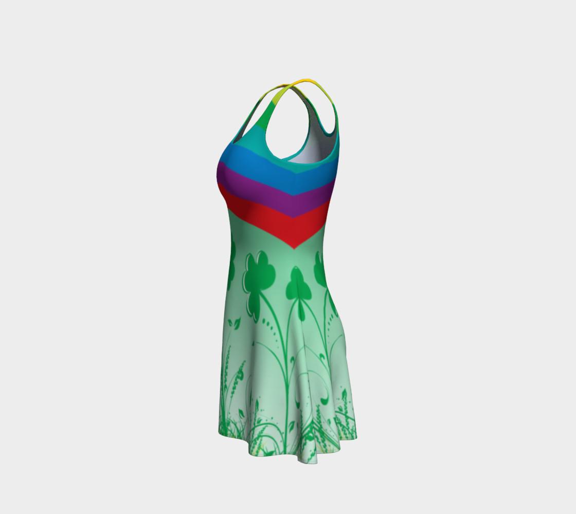 St. Patrick's day dress, Clover dress, shamrock dress, rainbow dress, lucky dress, Clover rainbow dress preview #2