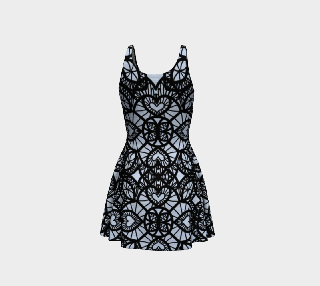 Heart Design Flare Dress preview #3