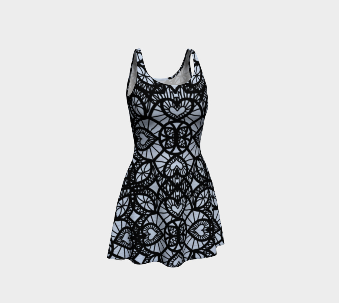 Heart Design Flare Dress preview #1