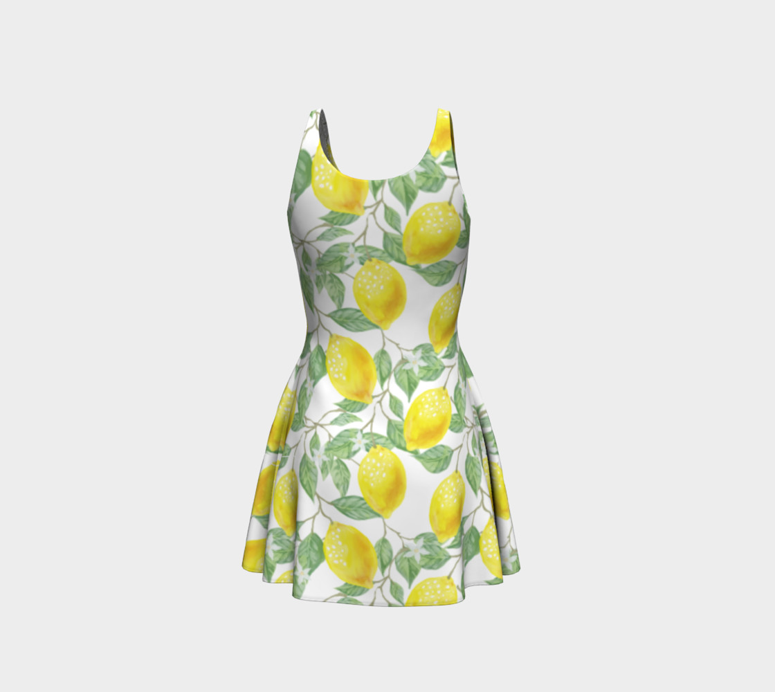 Life gives You Lemons Flare Dress preview #3