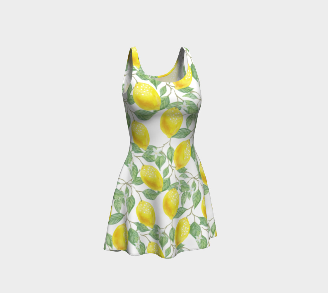 Life gives You Lemons Flare Dress preview #1