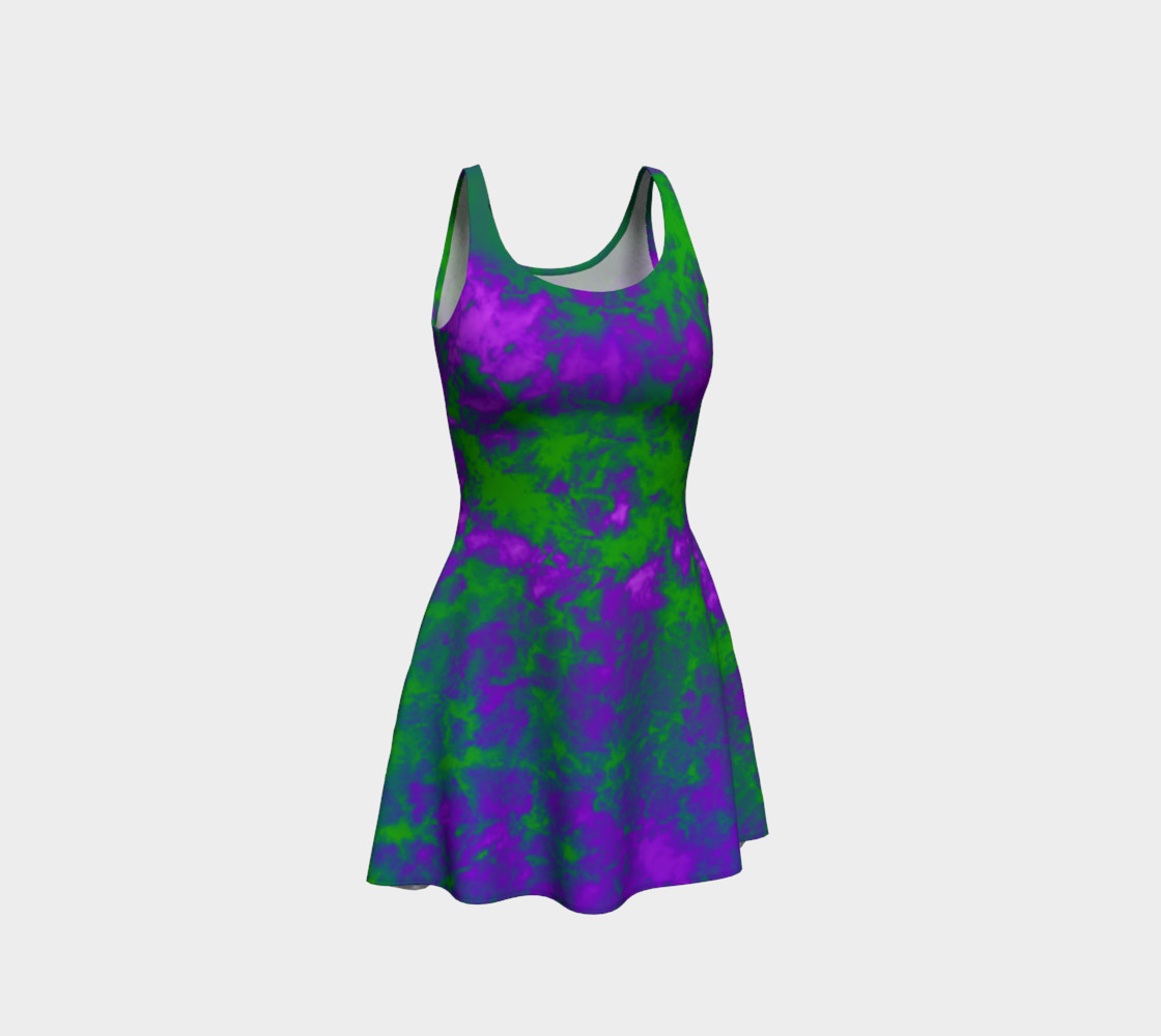 Tie-Dye Sky in Purple and Green preview #1